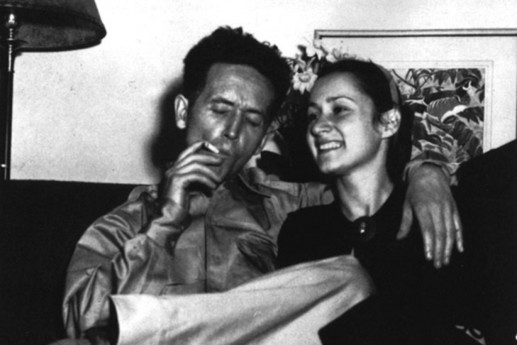 Woody Guthrie and his second wife, Marjorie (Courtesy photo)