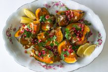 referral Roasted Kabocha Squash With Pomegranate Molasses and Tahini from little ferraro kitchen