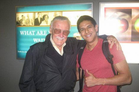 Adam and Stan Lee in an airport terminal, just two guys from Forest Hills, Queens (Courtesy photo)