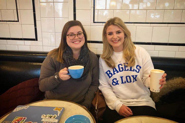Rachel Zylberfink, left, and Amanda Friedman (Courtesy CJP)