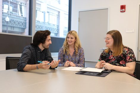 From left: Caleb Alemany, Amanda Friedman and Rachel Garfinkel (Courtesy CJP)
