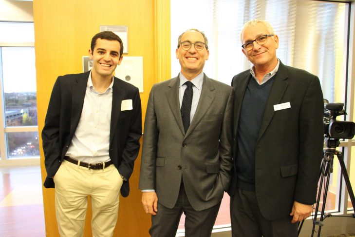 From left: Sam Glasgow, Rashi Class 2008, Dr. Kevin Tabb and Neal Levy (Courtesy photo)