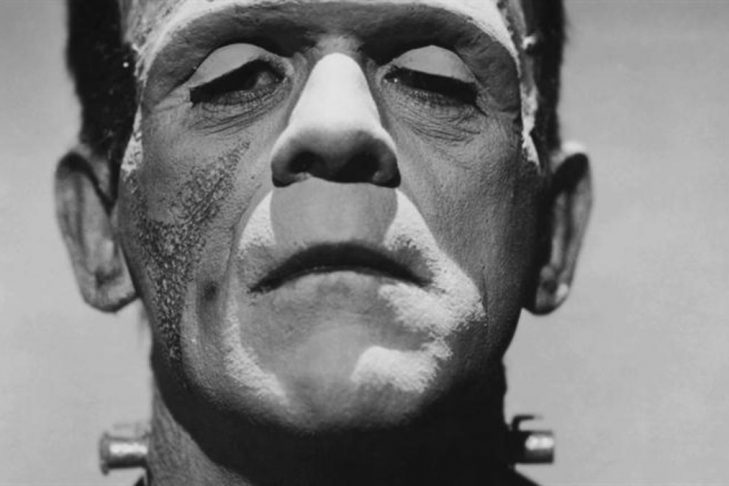 Boris Karloff as Frankenstein (Promotional still)