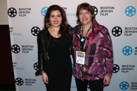 Jaymie Saks, right, with Ariana Cohen-Halberstam (Courtesy Boston Jewish Film)