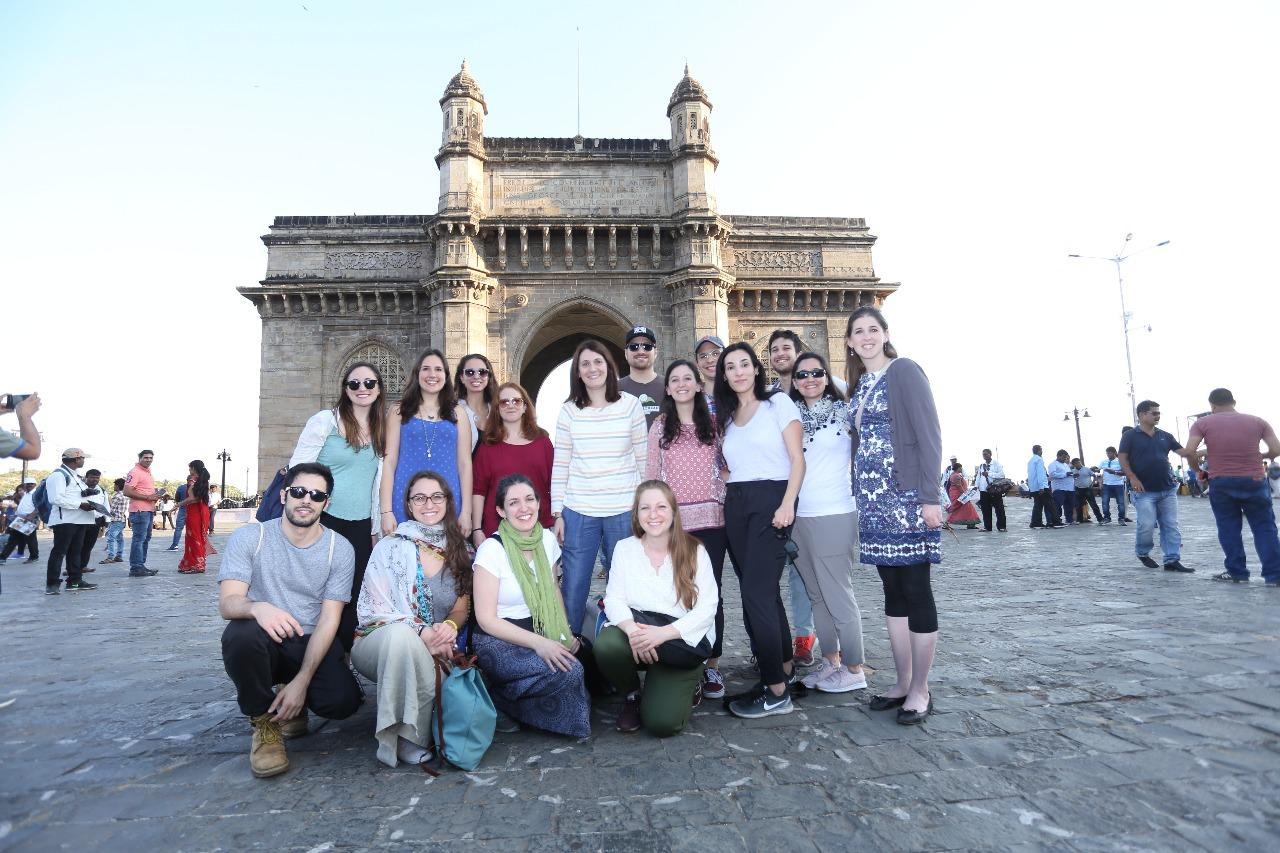In front of the Gateway of India (Courtesy photo)