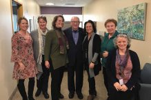 Izzy Arbeiter and the Schechter Holocaust Services team (Courtesy photo)