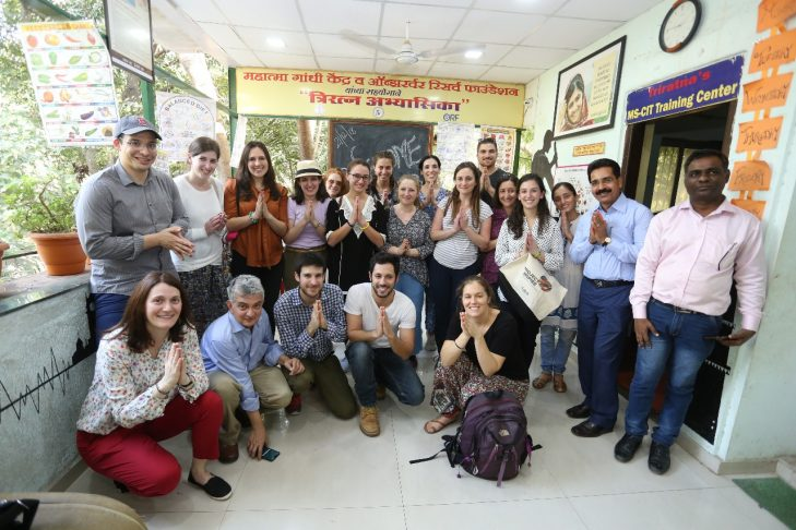 Visiting with the staff at Triratna Prerana Mandal NGO (Courtesy photo)