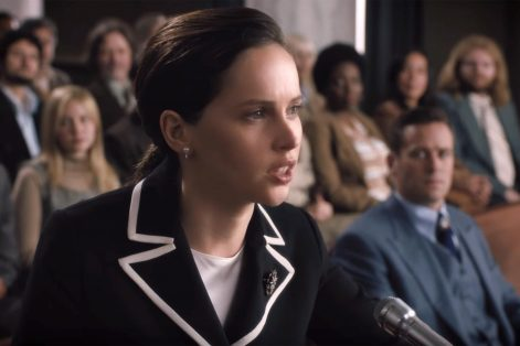 """Felicity Jones as Ruth Bader Ginsburg in """"On the Basis of Sex"""" (Courtesy photo)"""