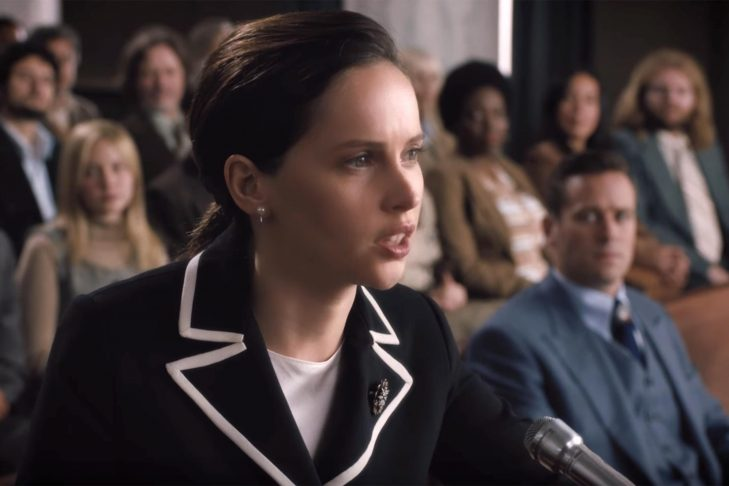 "Felicity Jones as Ruth Bader Ginsburg in ""On the Basis of Sex"" (Courtesy photo)"