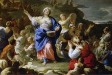 """""""The Song of Miriam"""" by Luca Giordano"""