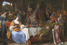 """Esther, Ahasuerus, and Haman"" by Jan Steen"