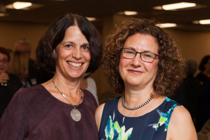 Joyce Zakim and Marjie Sokoll (Courtesy photo)
