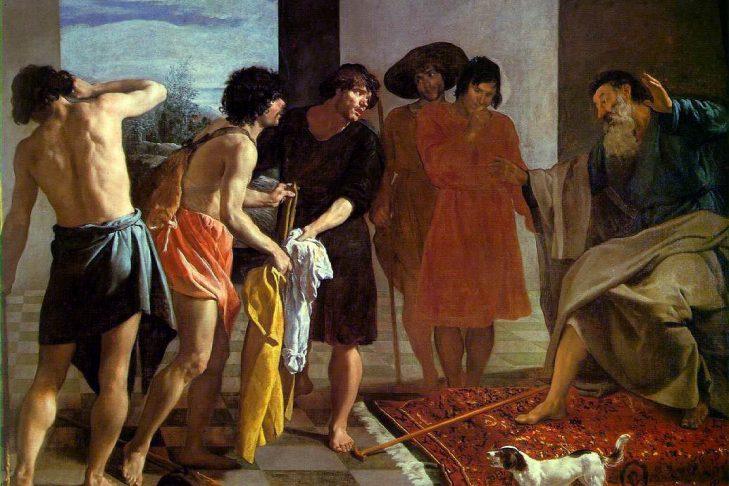 """Joseph's Bloody Coat Brought to Jacob"" (1630 by Diego Velazquez)"
