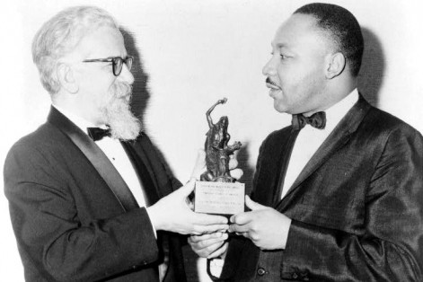 Rabbi Abraham Joshua Heschel and Dr. Martin Luther King Jr. (Courtesy photo: United States Library of Congress Prints and Photographs division)