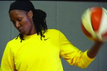 """Chamique Holdsclaw in """"Mind/Game: The Unquiet Journey of Chamique Holdsclaw"""" (Promotional still)"""