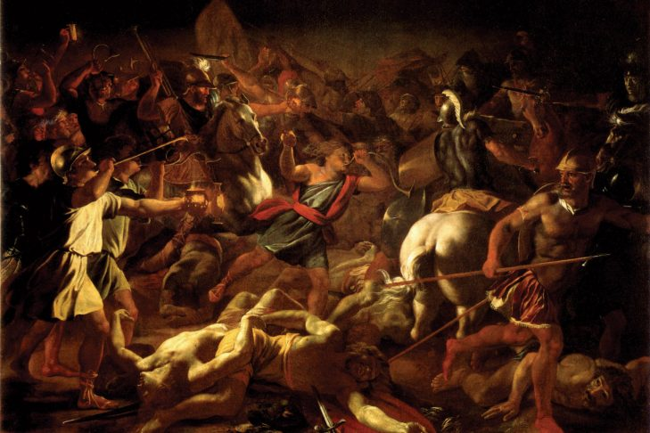 """""""Battle of Gideon Against the Midianites"""" by Nicolas Poussin (1626)"""