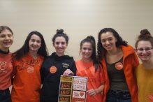 The JFCS TeenSafe cohort on Wear Orange 4 Love Day (Courtesy photo)