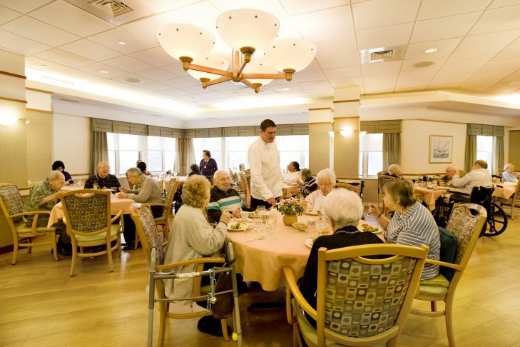 Cohen Florence Levine Estates Assisted Living dining room (Courtesy photo)