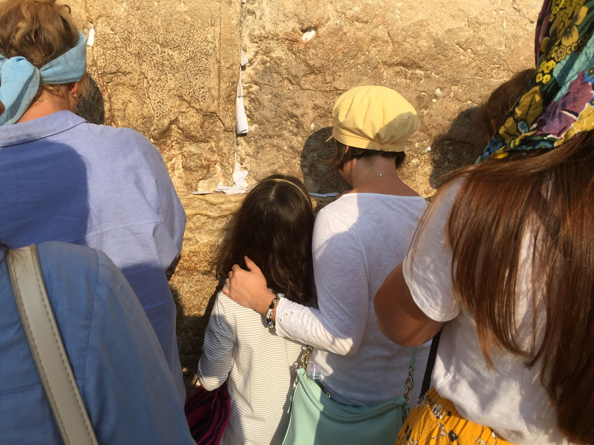 Laura and her daughter at the Western Wall (Courtesy photo)