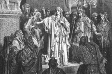 """Queen Vashti Refuses to Obey Ahasuerus' Command"" by Gutave Dore, 1866"