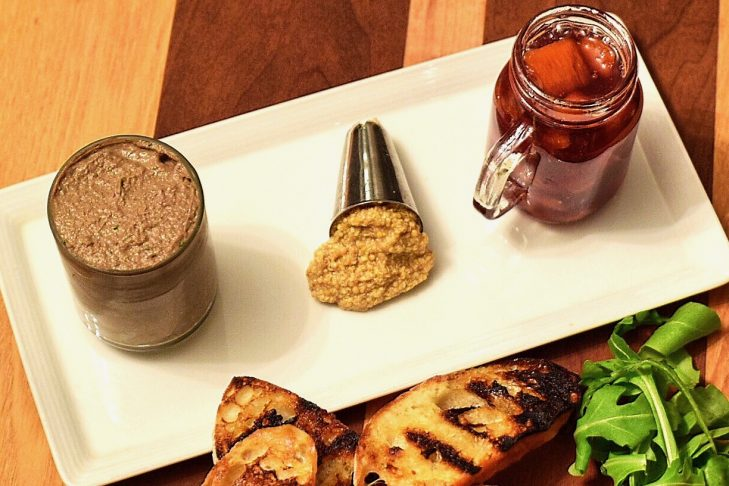 Chicken liver and beef mousse at Simcha (Photo: Adam DeTour)