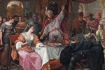 "Detail from ""The Wrath of Ahasuerus,"" by Jan Steen, circa 1668. (Public domain)"