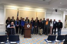 Attendees of the 2019 Parkinson's Awareness Day event at the Massachusetts State House (Courtesy photo)