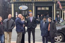 Governor Charlie Baker of Massachusetts at the vigil for Chabad of Poway (Photo: Simón Ríos)