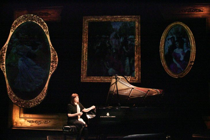 """Mona Golabek in Theater J's """"The Pianist of Willesden Lane"""" (Hershey Felder Presents)"""