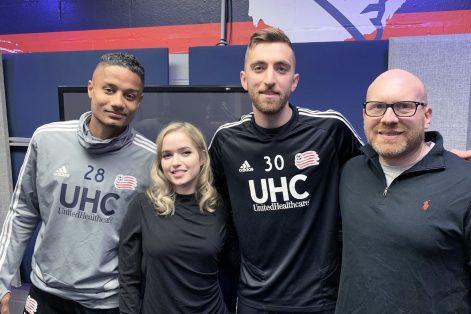 From left: New England Revolution captain Michael Mancienne, Miriam Anzovin, New England Revolution goalie Matt Turner and Dan Seligson (Photo: Melissa Magerer)