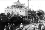 Haganah ship Jewish State in Haifa Port in 1947 (Courtesy photo)