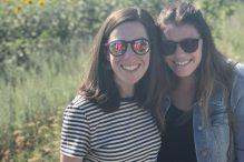 Dana Bornstein, right, and Sophie Hearne, JDC Entwine Boston community reps (Courtesy photo)