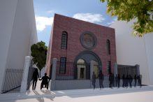 Architectural rendering of the Vilna Shul exterior post-renovation (Courtesy Vilna Shul)