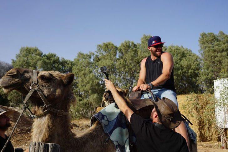 Julian Edelman in Israel's Negev desert in 2015 (Photo: Dan Seligson)