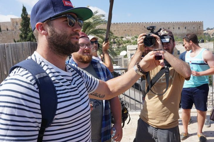 Julian Edelman in Jerusalem in 2015 (Photo: Dan Seligson)