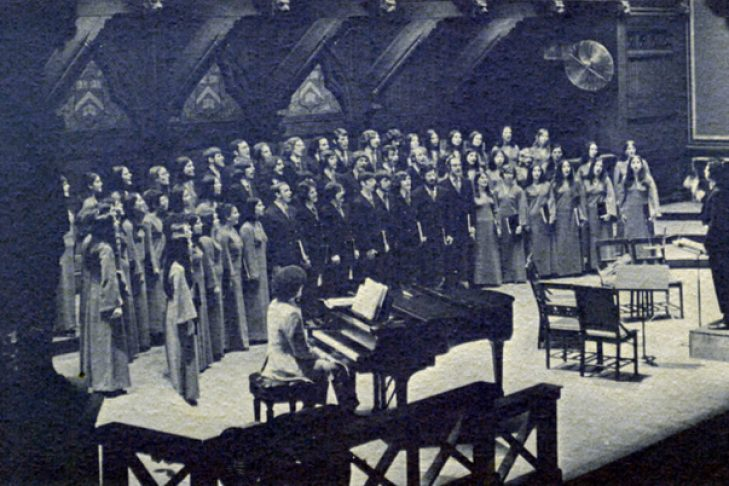 Zamir Chorale at Sanders Theatre in 1972 (Courtesy photo)