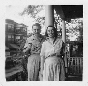 Uncle Julius, our mother's brother, and Auntie Ida, his wife in Winthrop for the summer, late 1930s (Courtesy photo)