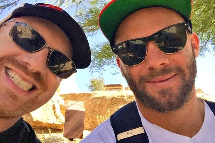 Dan Seligson, left, and Julian Edelman in Israel in 2015 (Photo: Dan Seligson)