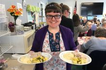 Elizabeth of JF&CS CHAI Works-South volunteering at the Avon Council on Aging (Courtesy photo)