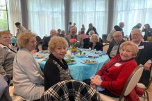 Guests at the 2019 Yom HaShoah luncheon organized by Cafe Hakalah (Courtesy photo)