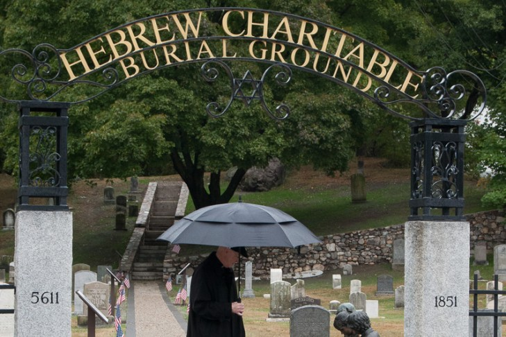 The Hebrew Charitable Burial Ground was once abandoned, but JCAM restored the historic Jewish cemetery in 2013 (Courtesy JCAM)