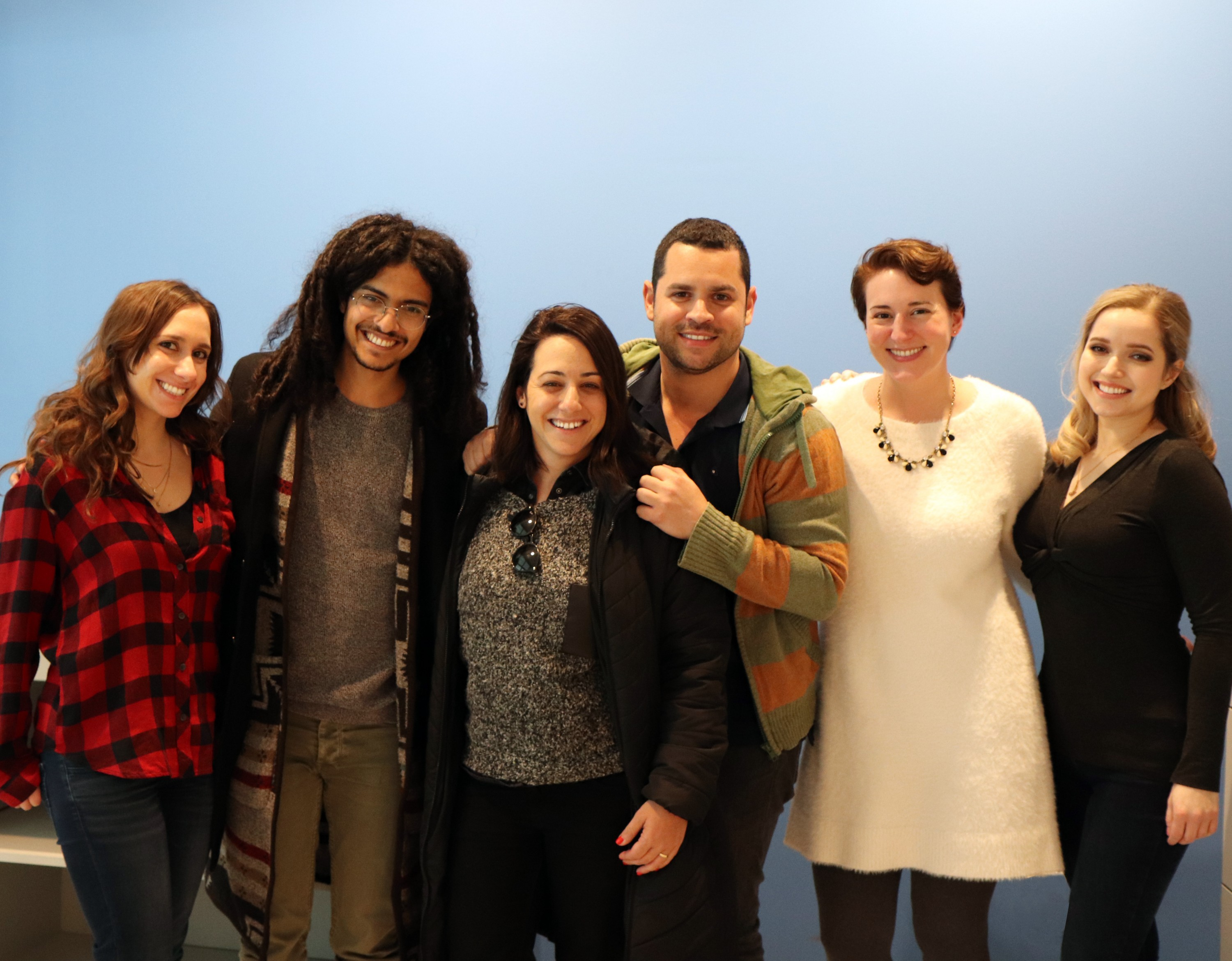 From left: Ashley Jacobs, Ben Yaffet, Michal Shahaf, Or Taicher, Kali Foxman and Miriam Anzovin (Photo: Craig Byer)