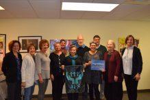JFS Patient Navigator staff and volunteers with Susan Lewis Solomont, Cummings Foundation's pro bono director of volunteers (Courtesy photo)
