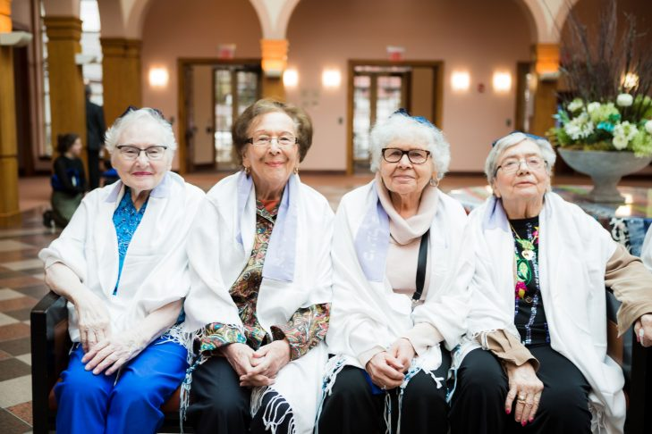 From left: Sheila Greenfield, Millie Kessler, Joyce Weinberg and Roz Block (Photo: Ken Marcou)