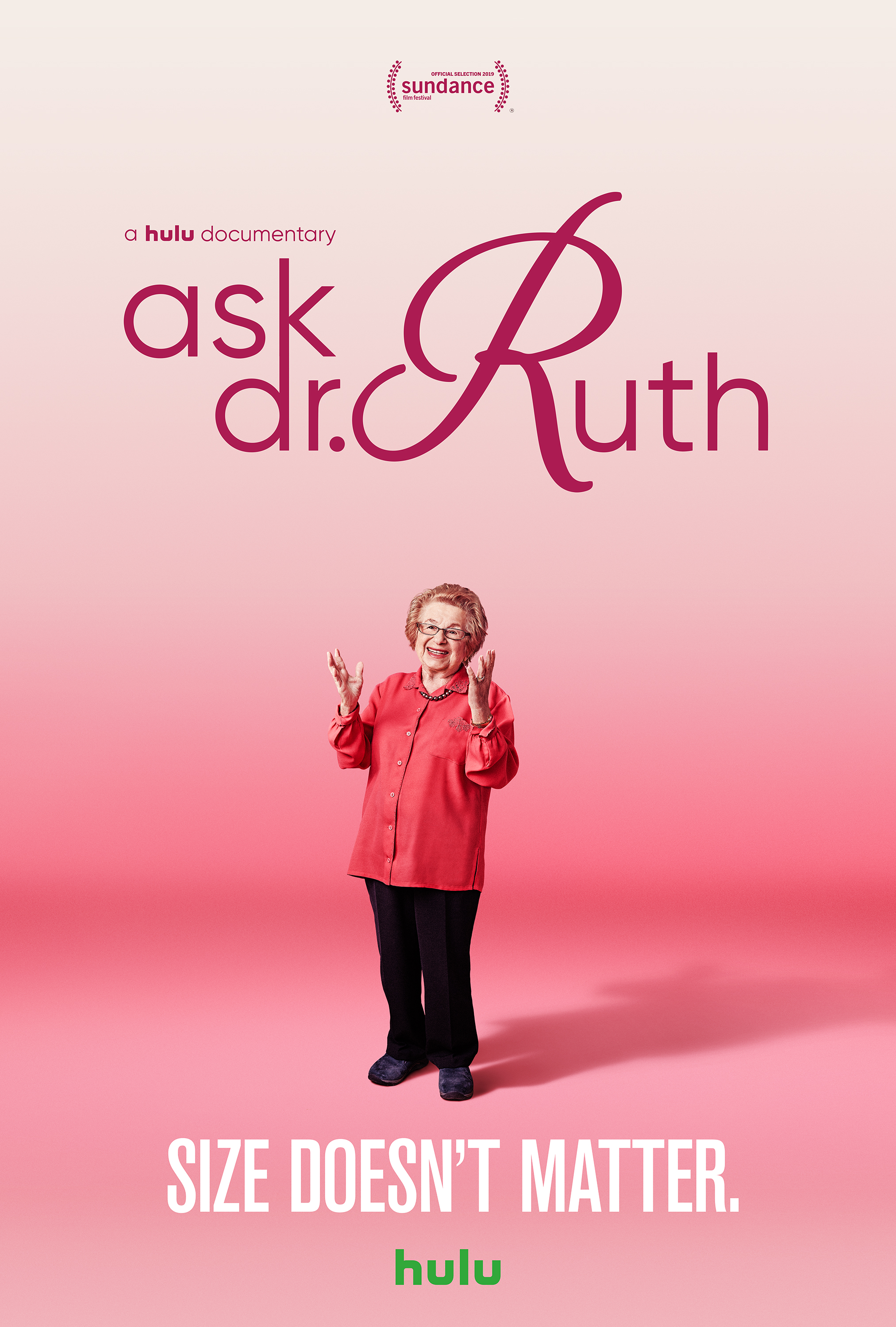 Dr. Ruth Westheimer in Ask Dr Ruth (Promotional still courtesy Hulu)