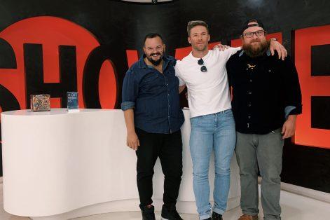 From left: Assaf Swissa, Julian Edelman and Kyler Schelling at Showtime (Courtesy photo)