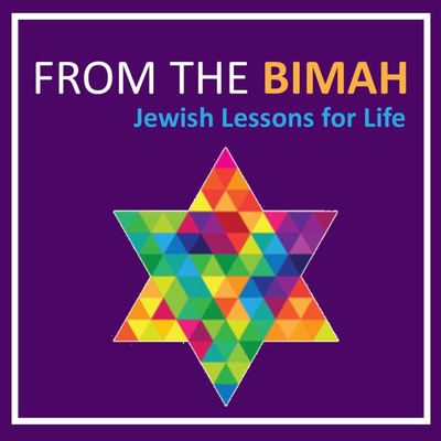 from the bimah