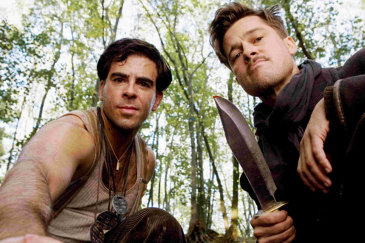 """Eli Roth and Brad Pitt in """"Inglourious Basterds"""" (Promotional still)"""