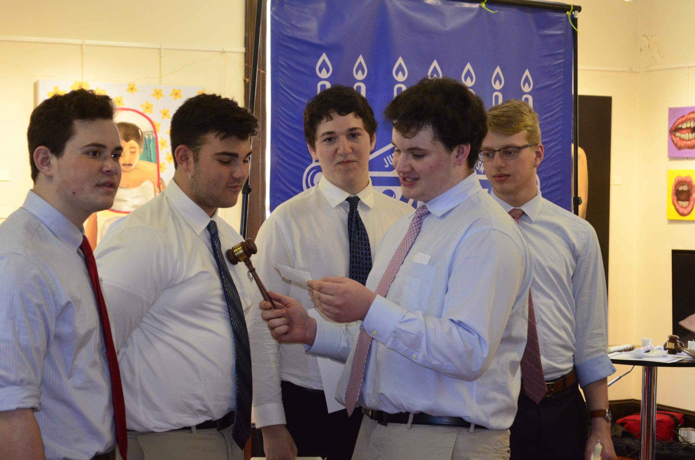AZA Regional Board, from left: Ben Gribov, Reese Sock, Josh Erani, Joseph Rasamat and Amit Fudim (Courtesy photo)