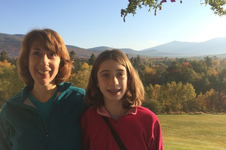Betsy Johnson with her daughter, Becca, in the mountains (Courtesy photo)